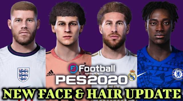 تحميل تسريحات الشعر الجديدة لبعض اللاعبين لبيس PES 2020 😍🔥🎁