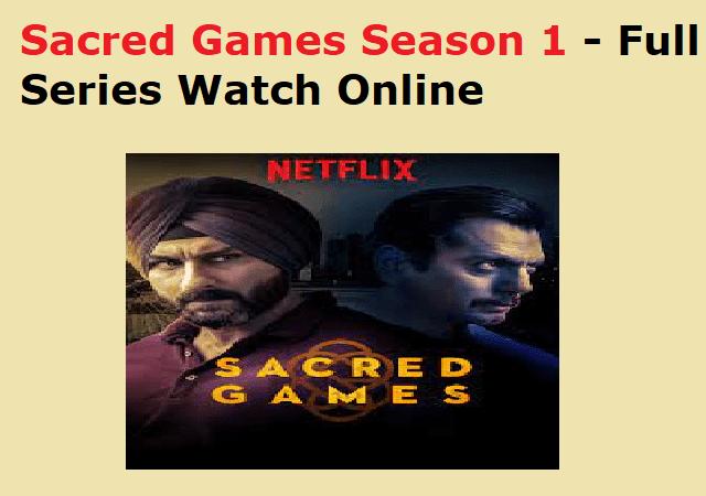 Sacred Games Season 1