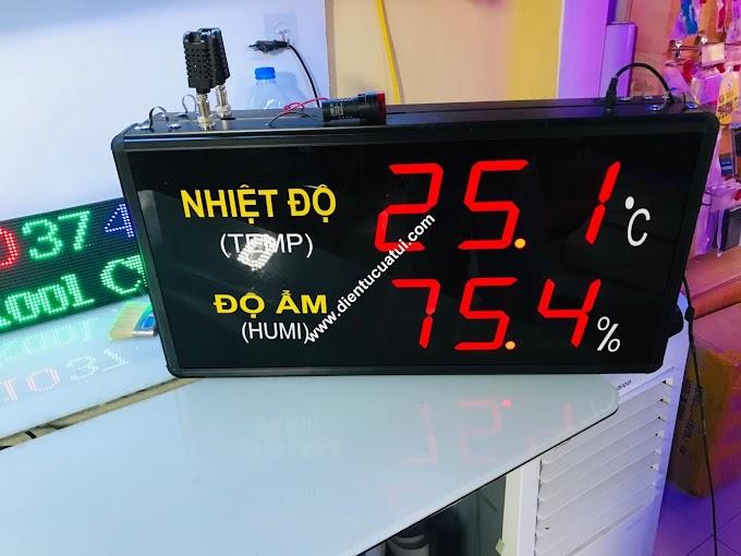 Đồng hồ đo nhiệt độ độ ẩm nhà xưởng KCN - KT35 x 60 x 5 cm