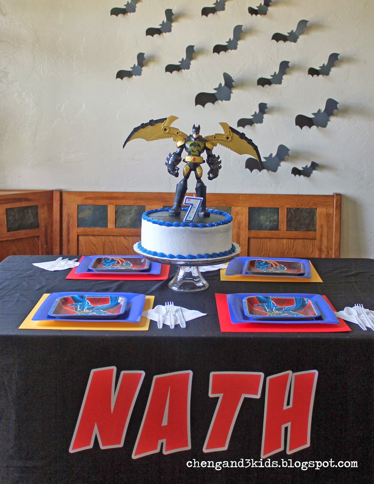 Batman Themed Birthday Party by Cheng and 3 Kids