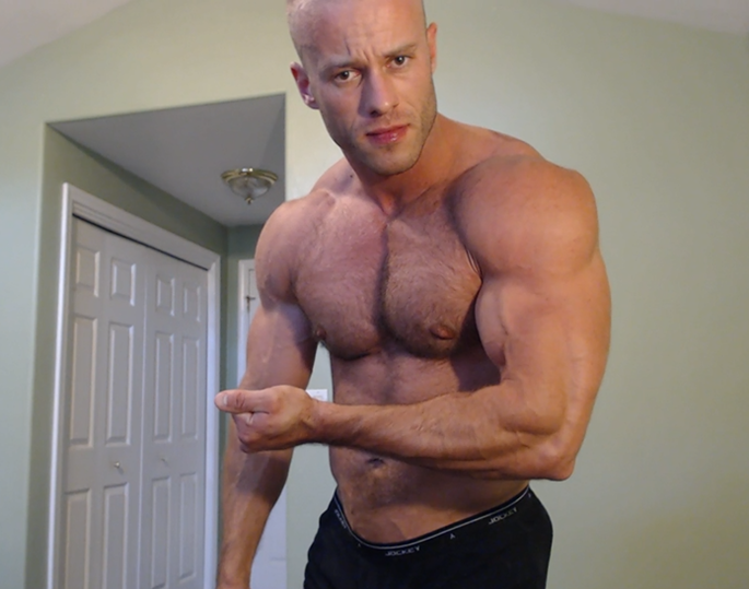 muscle hunk flex