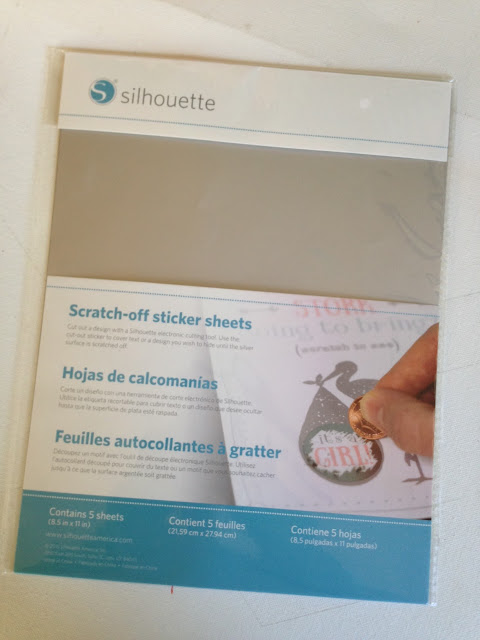 Silhouette scratch off sticker tutorial review