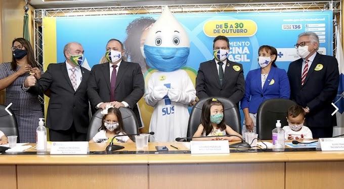 Ministério da Saúde inicia campanha de vacinação de crianças e adolescentes em todo o Brasil
