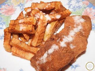 Soia snitele cu cartofi prajiti si mujdei de usturoi reteta,