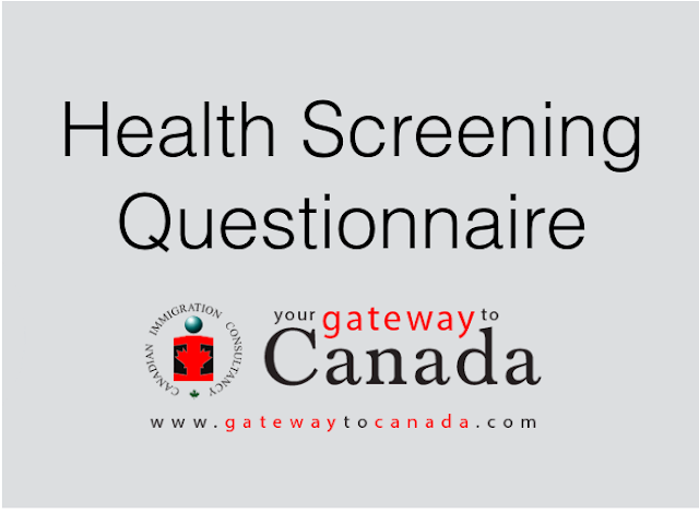 Advisory: Health Screening Questionnaire