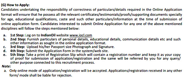Steps to Apply for IOCL Recruitment