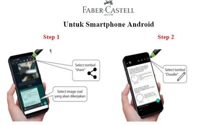 cara menggunakan stylus pen faber castell untuk pjj atau belajar online