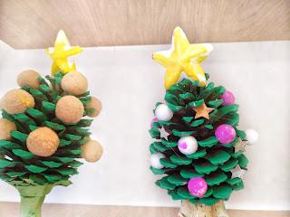Árvore de Natal DYI - Pinha