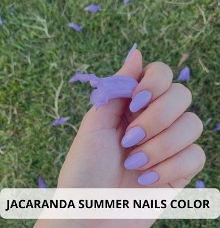 Jacaranda Summer Nails Color Ideas