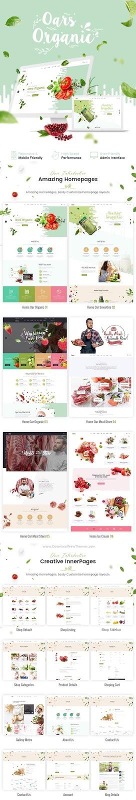 Creative Organic Store Joomla Template