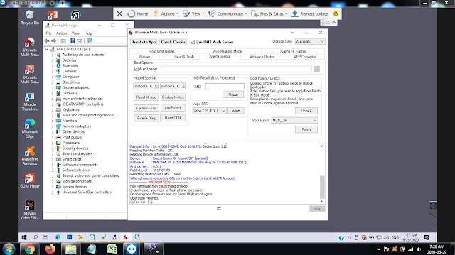 Hapus Micloud / Akun Mi Redmi 4X Santoni Tanpa Dongle UMT via Remote Teamviewer