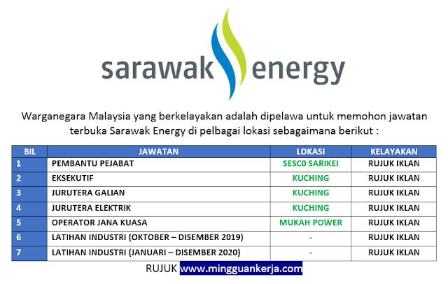 Mohon Online Pelbagai Jawatan Kosong Terkini Ditawarkan Di Sarawak Energy