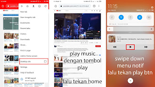 memainkan music di background android