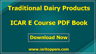 Traditional Dairy products ICAR ecourse pdf book download e krishi shiksha