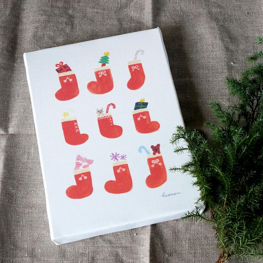 「christmas gift」イラストファブリックパネルが出来上がりました☆彡