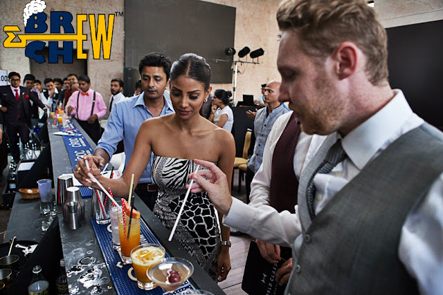Manu Chandra, Nicole Faria and Jamie Walker tasting the Cocktails