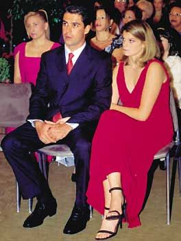 Athina Onassis  e o namorado Doda Miranda