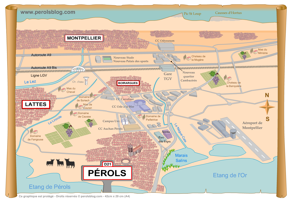 Carte de Pérols