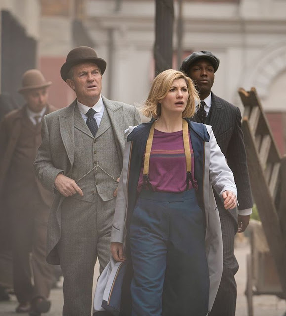 Jodie Whittaker, Bradley Walsh, and Tosin Cole in Doctor Who