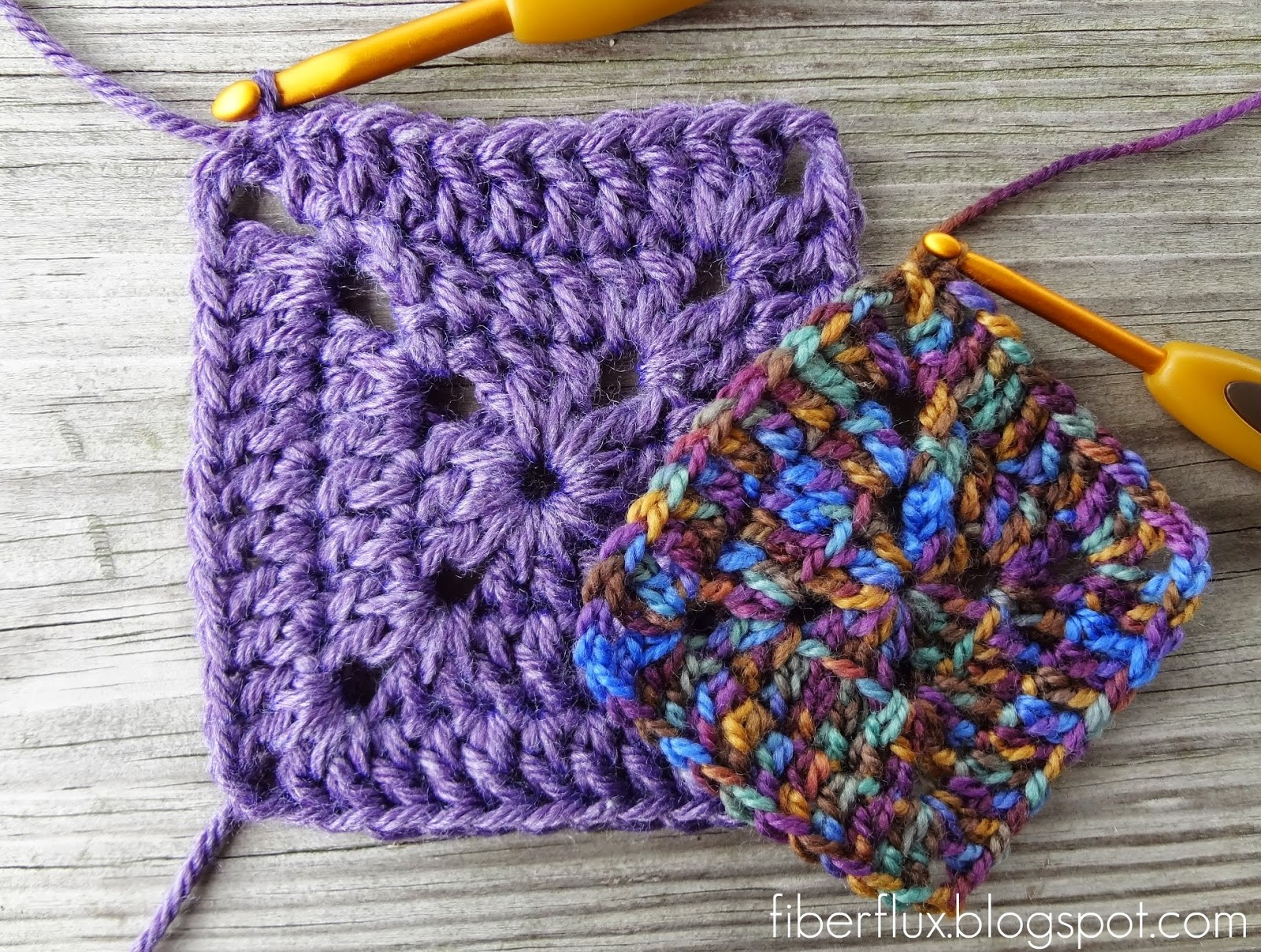 How To Crochet Granny Squares : Fiber Flux: How to Crochet a Solid Granny Square