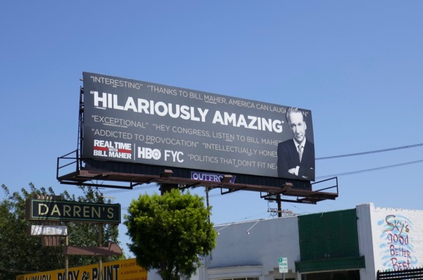 Bill Maher 2018 Emmy FYC billboard