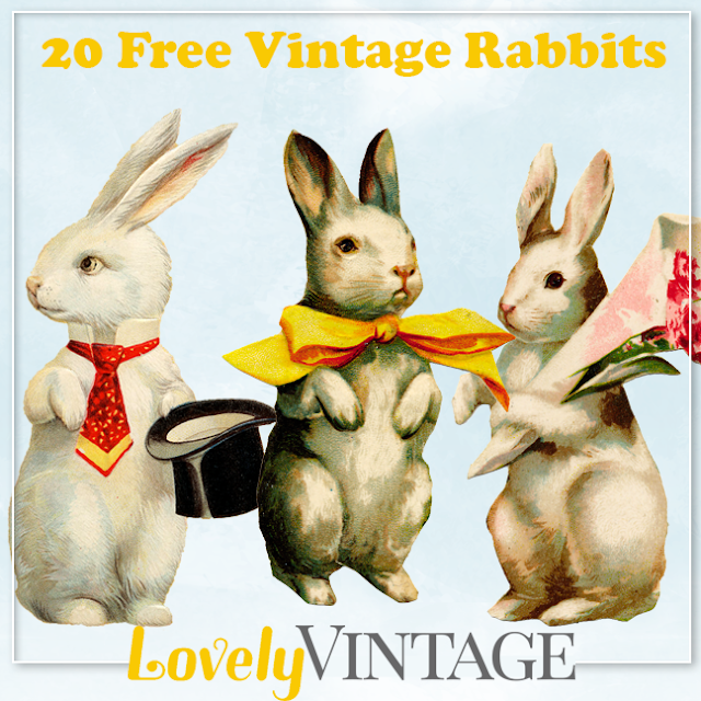 20 free vintage rabbits