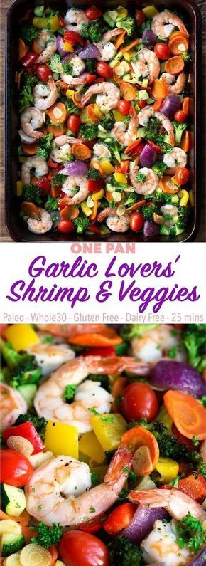 ONE PAN GARLIC LOVERS' SHRIMP AND VEGGIES