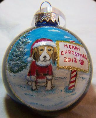 Beagle in a Santa Suit 2012
