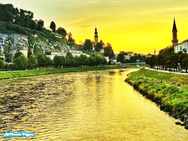 Rio Salzach, Salzburgo, Austria