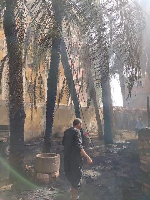 حريق يلتهم ثلاث منازل و6 حظائر مواشي بطهطا فى سوهاج