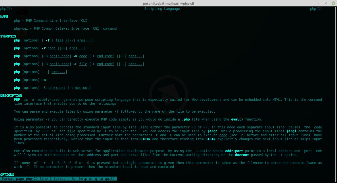 Dokumentasi PHP CLI