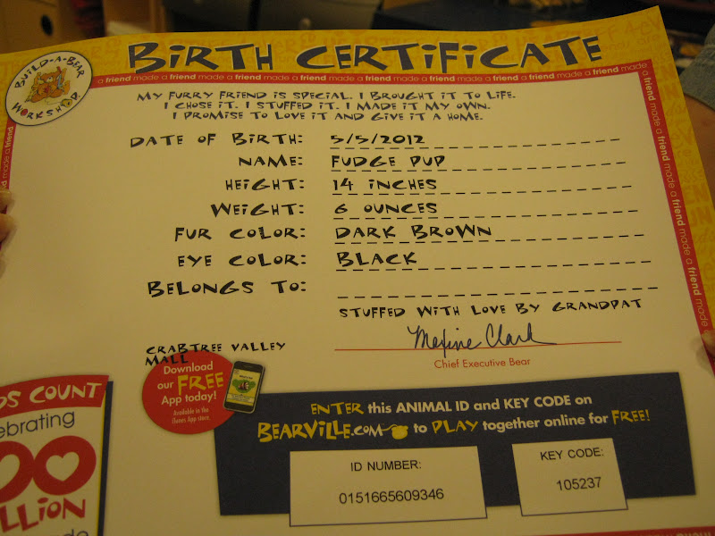 Beautiful build a bear birth certificate free motif for Build a bear birth certificate template