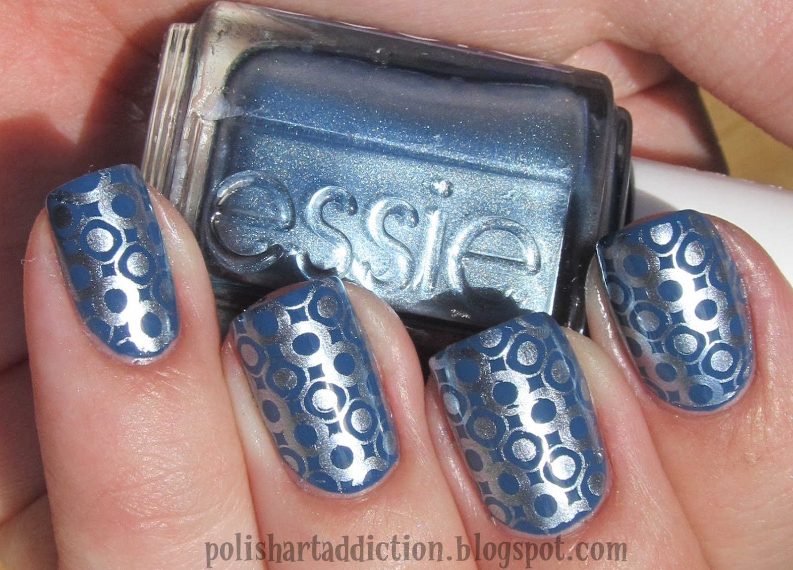 Sinful Colors Rain Storm & Essie Blue Rhapsody