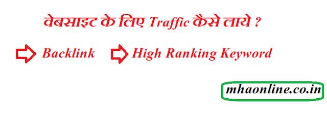 वेबसाइट के लिए ट्रैफिक कैसे लाये ? website ke liye organic traffic kaha se laye