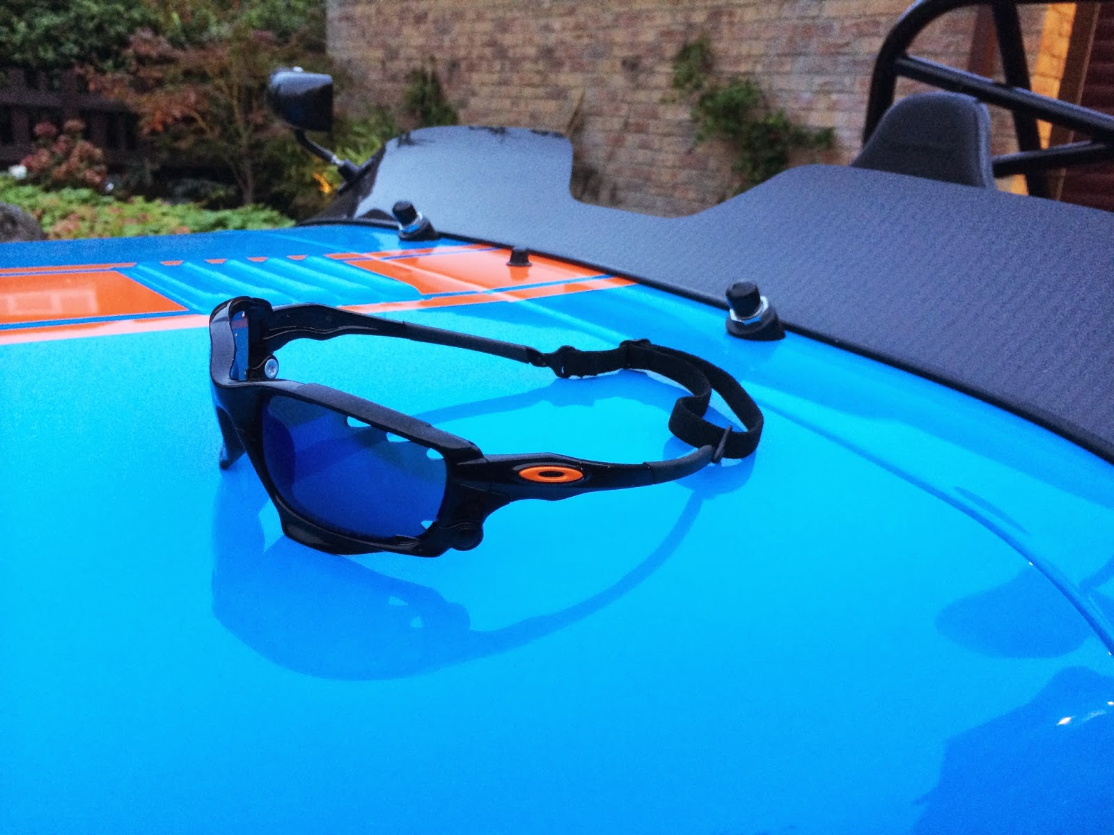 My new blatting glasses - custom Oakley Racing Jackets