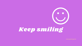 Keep smiling Desktop Wallpaper images with magneta color background