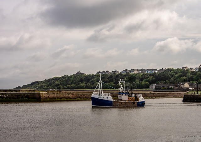 Photo of Fredwood leaving Maryport Harbour