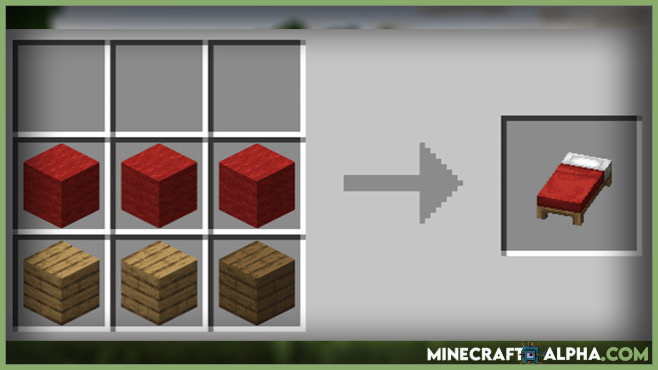 How to Make Minecraft Bed? (Crafting Recipe)