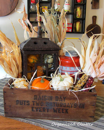 Wooden Crate Rustic Fall Vignette