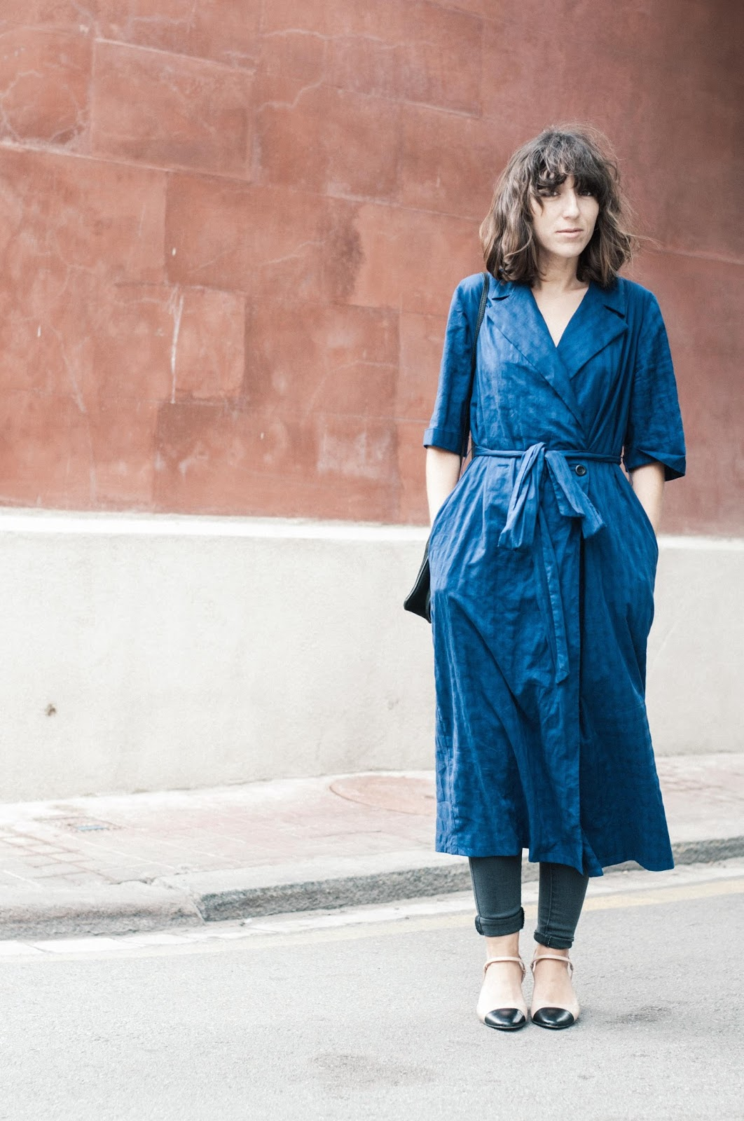 Vestido Zara, Zapatos Uterque, bolso & Other Stories