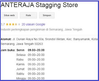 staging store Anteraja semarang