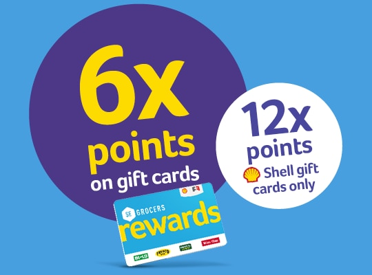 Spend those gift cards like cash or give them as great holiday gifts, you're rewarded either way. All those points earned can be used for dollars off ...