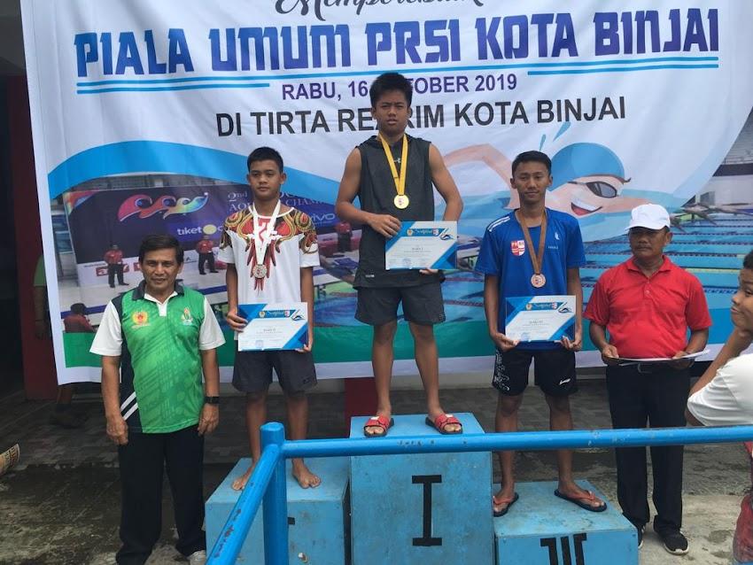 SMP Swasta An-Nizam memiliki Atlet Renang yang handal