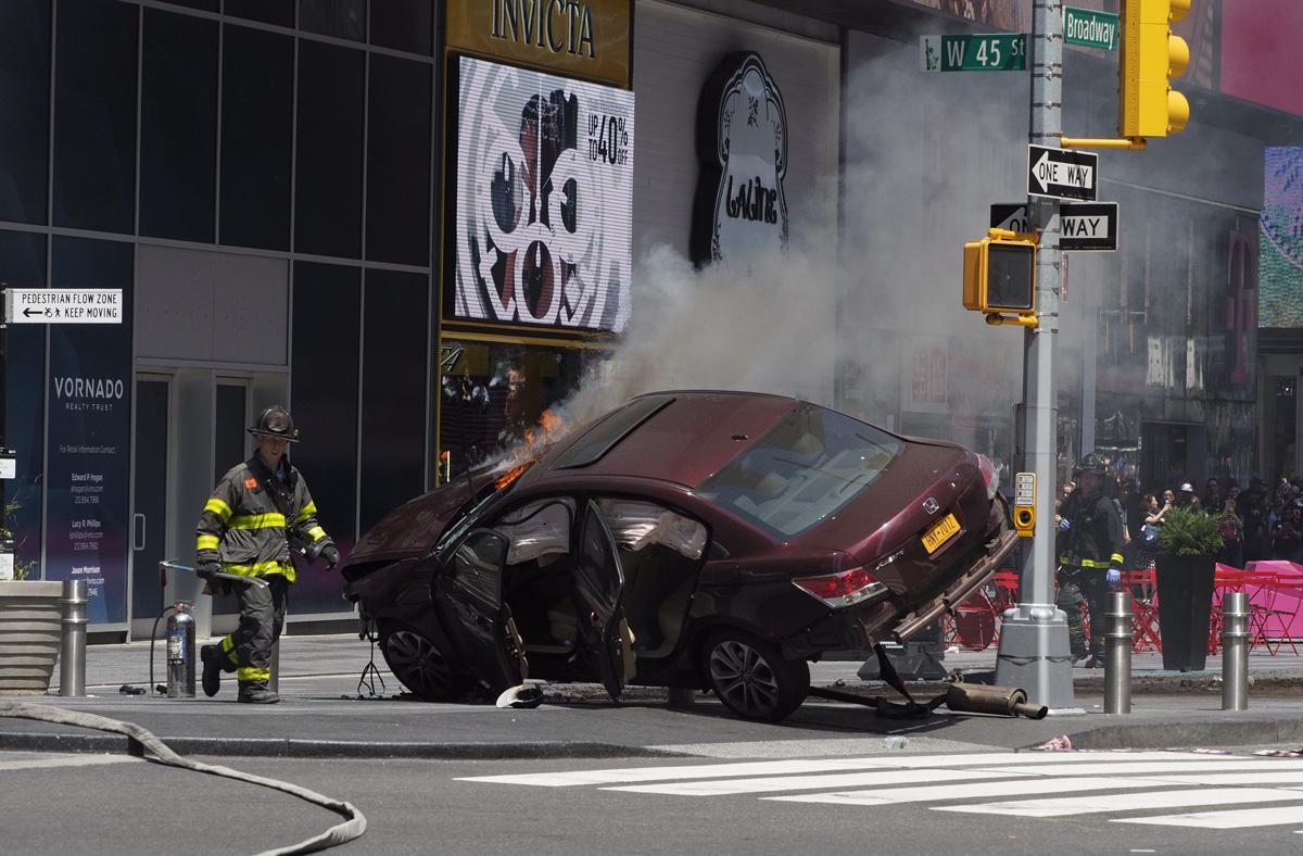 Decoding Satan: Times Square car crash #MarketCrash warning