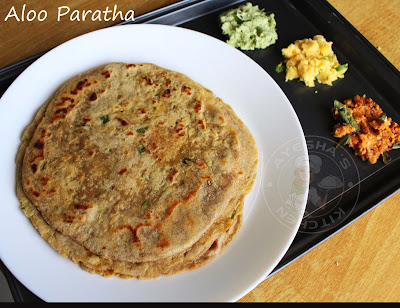 easy nutritious food for breakfast with potato stuffing served with chutney or pickle indian healthy recipes or veg recipes of india