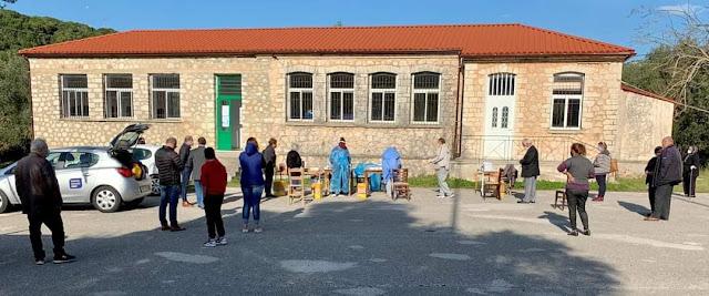 Κατέφθασε στο κτήριο του Δημοτικού Σχολείου Μορφίου το κλιμάκιο του ΕΟΔΥ - μετά από πιέσεις τοπικής κοινωνίας, αυτοδιοικητικών Κοινότητας εως Περιφέρεια, η τελευταία ήταν καθοριστική - από τα Ιωάννινα και έκανε τα rapid tests.