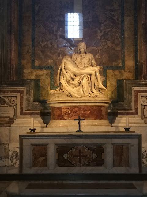 Michelangelo's Pietà, Saint Peter's Basilica, Rome, Italy