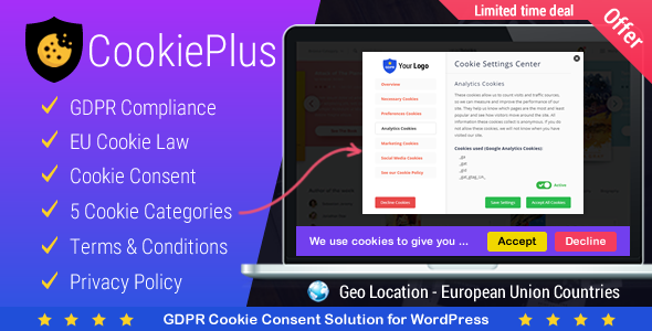Download Cookie Plus v1.4.0 - GDPR Cookie Consent Solution