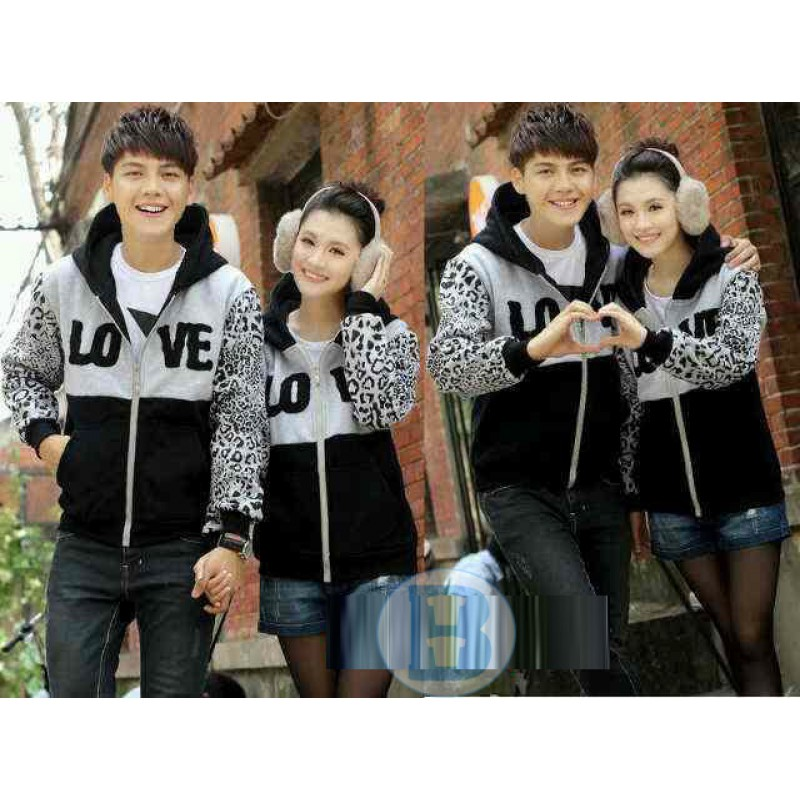Jual Jacket Couple Jacket Leophard Abu - 23250