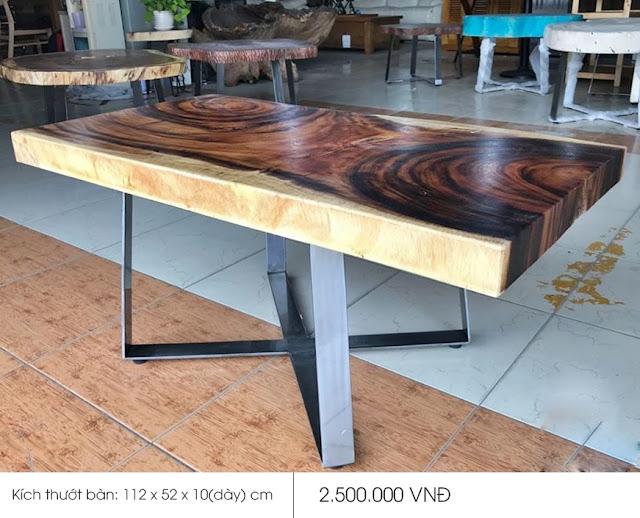 mặt bàn gỗ me tây siêu đẹp